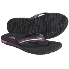 Teva Contoured Mush® Sandals - Flip-Flops (For Women) in Plum - Closeouts