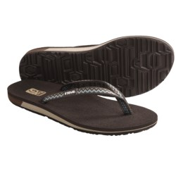 Teva Contoured Ribbon Mush® Sandals (For Women) in Path Brown