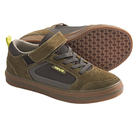 Teva Crank C Shoes (For Kids) in Dark Olive