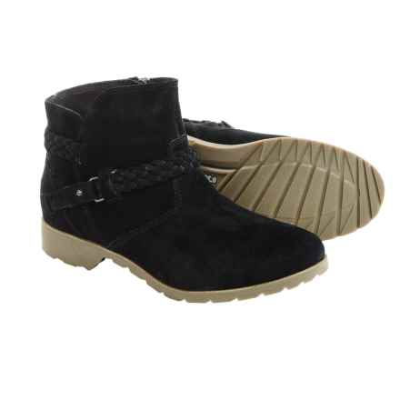 Teva De La Vina Ankle Boots - Suede (For Women) in Black - Closeouts