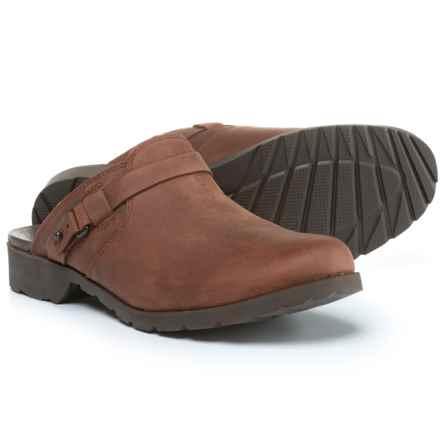 Teva De La Vina Mule Shoes - Leather, Slip-Ons (For Women) in Adobe Brown - Closeouts