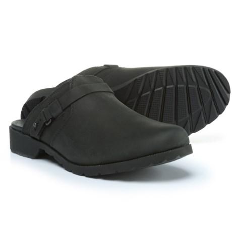 Teva De La Vina Mule Shoes - Leather, Slip-Ons (For Women) in Black