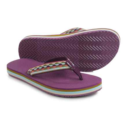 Teva Deckers Flip-Flops (For Women) in Purple - Closeouts