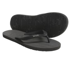 Teva Diversao Thong Sandals - Mush® (For Men) in Black - Closeouts