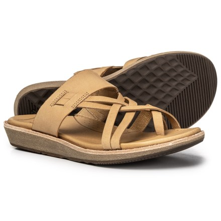 53f785020c7 Teva Encanta Slide Sandals - Leather (For Women) in Tan - Closeouts