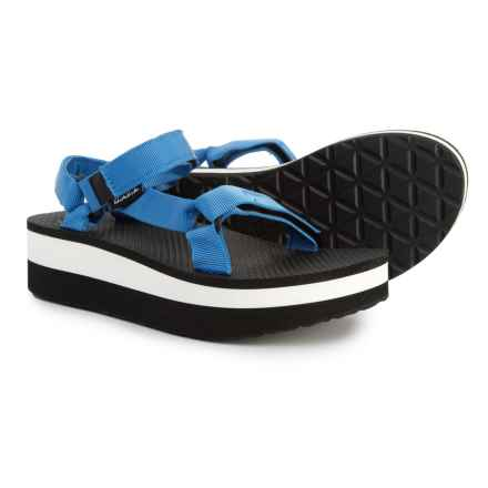 Teva Flatform Universal Sandals (For Women) in French Blue - Closeouts