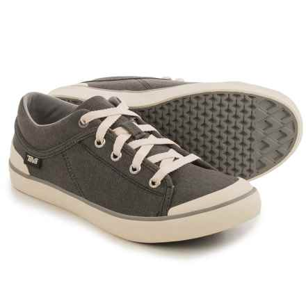Teva Freewheel Washed Canvas Sneakers (For Women) in Black/Grey - Closeouts