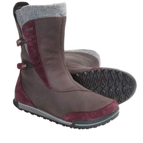 Teva Haley Boots - Waterproof (For Women) in Brown