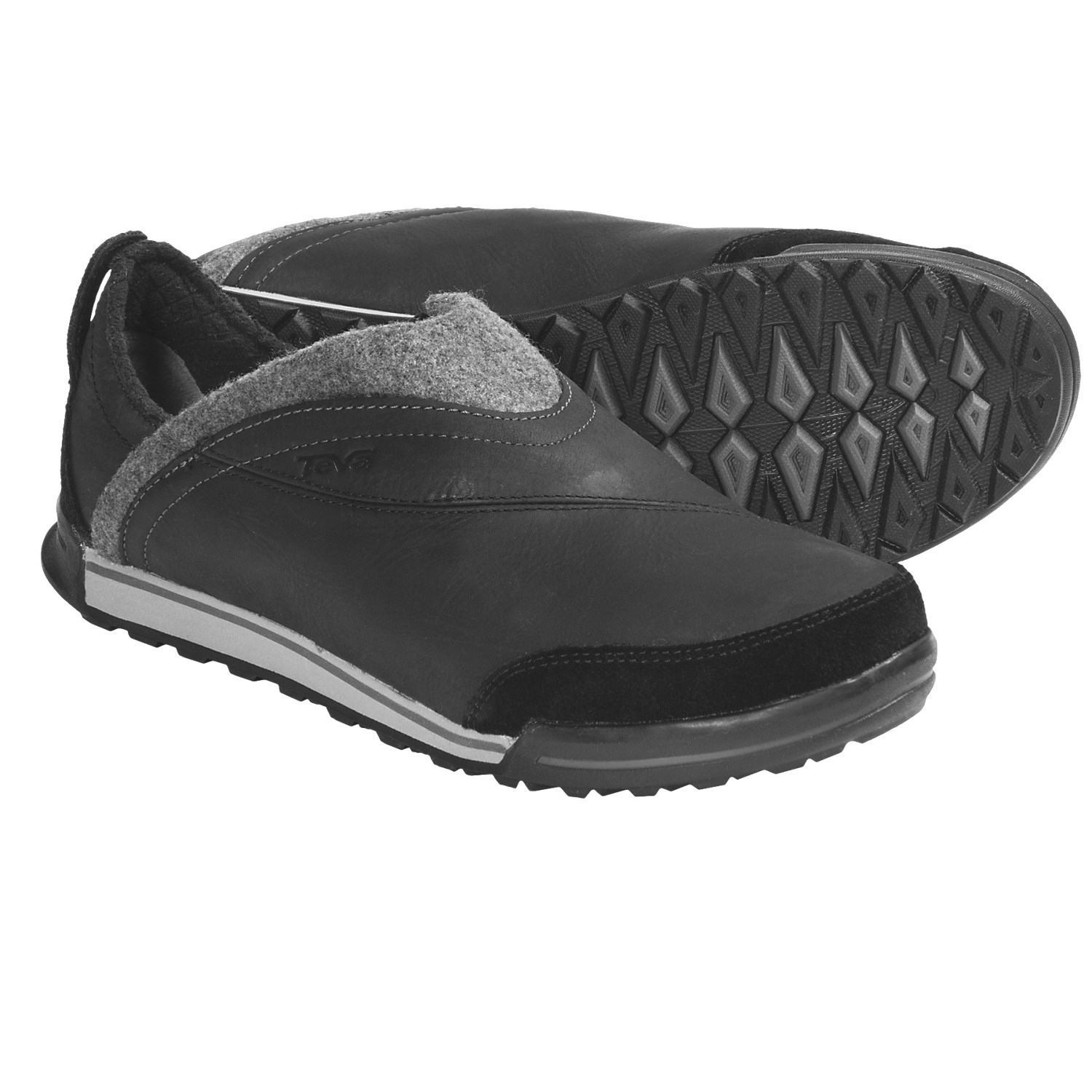 Teva Haley Shoes - Leather (For Women) in Black