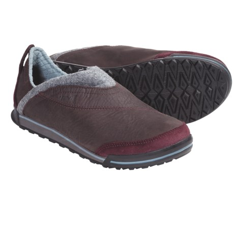 Teva Haley Shoes - Leather (For Women) in Burgundy