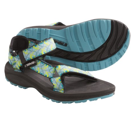 Teva Hurricane 2 Sandals (For Kids and Youth) in Tie Aqua
