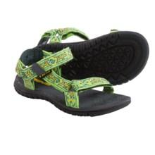 Teva Hurricane 3 Sandals (For Little Kids) in Green Lizard Pattern - Closeouts