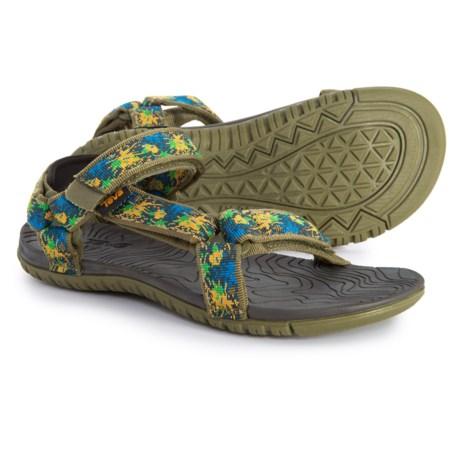 659cae0c13f35 Teva Hurricane 3 Sport Sandals (For Boys) in Splash Olive