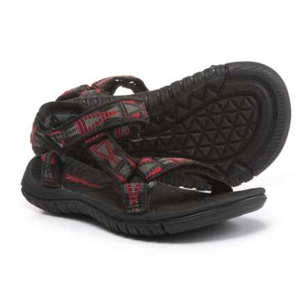 Teva Hurricane 3 Sport Sandals (For Infant and Toddler Boys) in Mosaic Black/Grey/Red - Closeouts