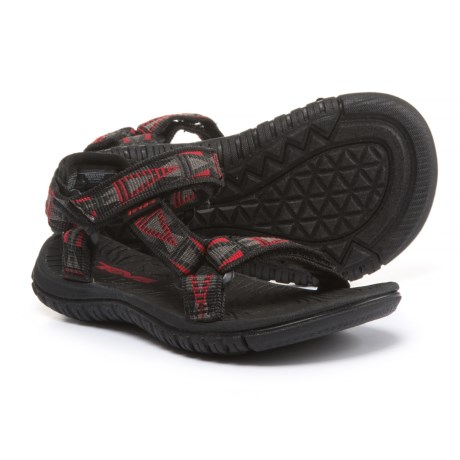 Teva Hurricane 3 Sport Sandals (For Infant and Toddler Boys) in Mosaic Black/Grey/Red
