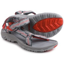 Teva Hurricane XLT Sport Sandals (For Men) in Geometric Grey/Red - Closeouts