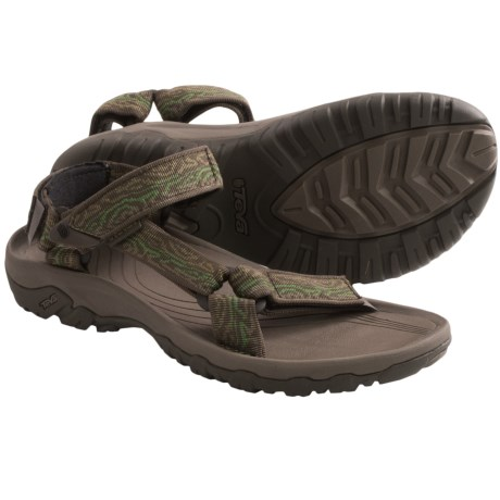 Teva Hurricane XLT Sport Sandals (For Men) in Wood Stripes Olive