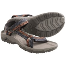 Teva Hurricane XLT Sport Sandals (For Men) in Wood Stripes Orange - Closeouts