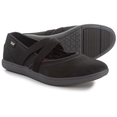 Teva Hydro-Life Slip-On Leather Shoes (For Women) in Black