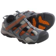 Teva Jansen Sport Sandals - Leather (For Little Kids) in Dark Grey/Orange - Closeouts