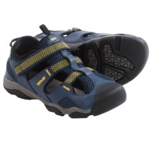 Teva Jansen Sport Sandals - Leather (For Little Kids) in Navy/Yellow - Closeouts