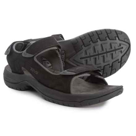 Teva Jetter Lux Sandals - Leather (For Men) in Dark Grey - Closeouts