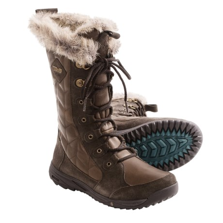 Teva Lenawee Leather Boots - Waterproof, Insulated (For Women) in Brown