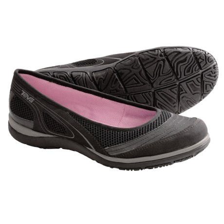 Teva Makena Ballerina Shoes (For Women) in Black