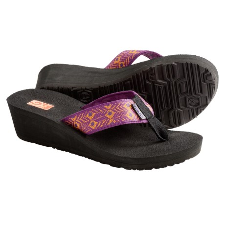 Teva Mandalyn Mush® Wedge 2 Sandals - Flip Flops (For Women) in Abbey Purple