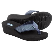 Teva Mandalyn Mush® Wedge 2 Sandals - Flip Flops (For Women) in Aro Vintage Indigo - Closeouts