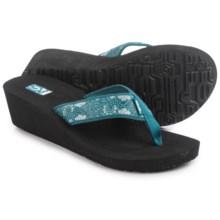 Teva Mandalyn Mush® Wedge 2 Sandals - Flip Flops (For Women) in Harmony Deep Teal - Closeouts