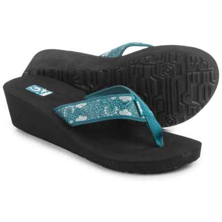 Teva Mandalyn Mush® Wedge 2 Sandals - Flip Flops (For Women) in Harmony Deep Teal - Closeouts
