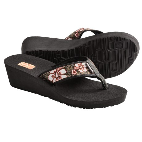 Teva Mandalyn Mush® Wedge 2 Sandals - Flip Flops (For Women) in Jungle Brown