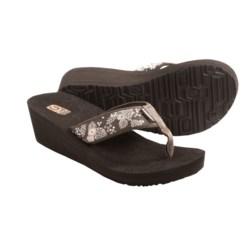 Teva Mandalyn Mush® Wedge 2 Sandals - Flip Flops (For Women) in Palm Flower Brown