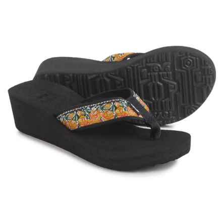 Teva Mandalyn Mush® Wedge 2 Sandals - Flip Flops (For Women) in Rosa Yellow - Closeouts