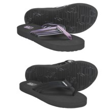 Teva Mush® Adapto Thong Sandals- 2-Pack, Flip-Flops (For Women) in Black/Dusty Lavender - Closeouts