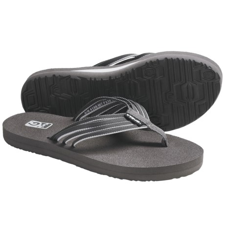 Teva Mush Adapto Thong Sandals - Flip-Flops (For Women) in Dark Gull Grey