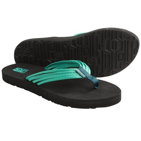 Teva Mush Adapto Thong Sandals - Flip-Flops (For Women) in Studded Neon Green