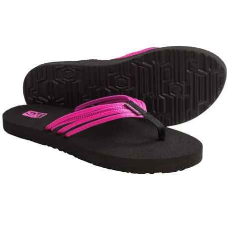 Teva Mush Adapto Thong Sandals - Flip-Flops (For Women) in Studded Neon Pink