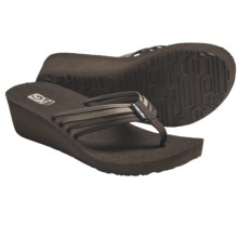 Teva Mush Adapto Wedge Sandals (For Women) in Chocolate Chip - Closeouts