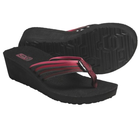 Teva Mush Adapto Wedge Sandals (For Women) in Red