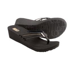 Teva Mush Adapto Wedge Sandals (For Women) in Studded Black