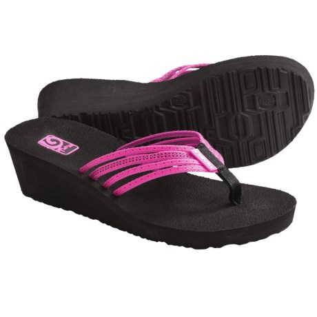 Teva Mush Adapto Wedge Sandals (For Women) in Studded Neon Pink