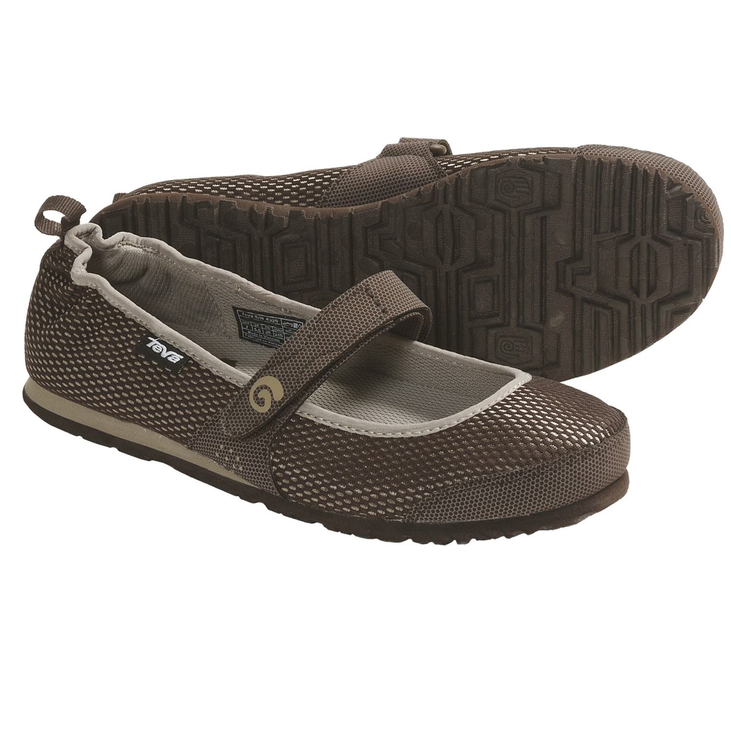 Teva Mush Frio Mary Jane Shoes (For Women) in Brown