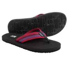 Teva Mush® II Canvas Flip-Flops (For Men) in Arroyo Red - Closeouts