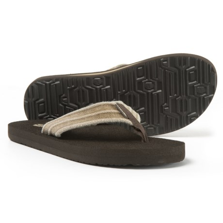 Teva Mush® II Canvas Flip-Flops (For Men) in Dune