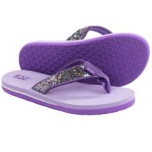 Teva Mush® II Flip-Flops (For Big Kids) in Purple Glitter - Closeouts