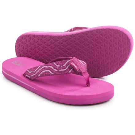 Teva Mush® II Flip-Flops (For Big Kids) in Tides Fuchsia - Closeouts