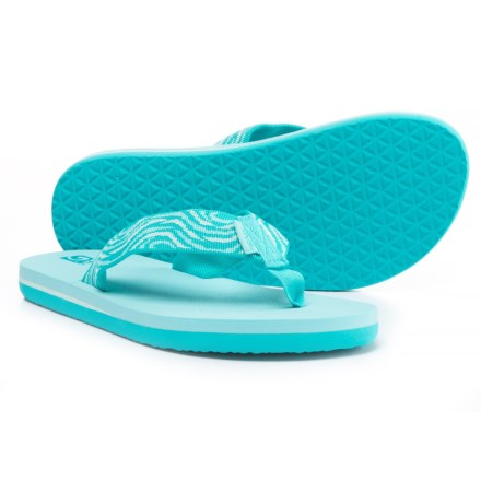 fa7d1744a15355 Teva Mush® II Flip-Flops (For Girls) in Tides Scuba Blue -