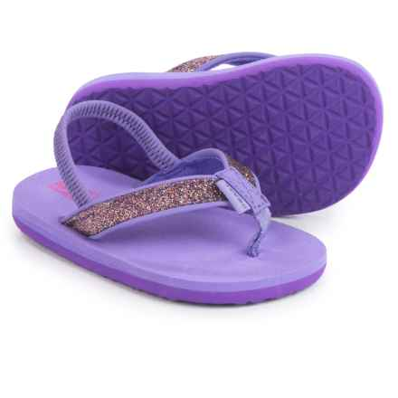 Teva Mush® II Flip-Flops (For Infants and Toddlers) in Purple Sparkle - Closeouts